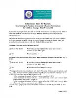 Flu Clinic – Dose Info