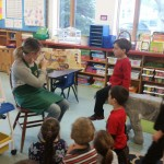 Chef Katelyn Reads to Kindergarten
