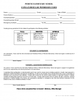 Extra Curricular Permission Form